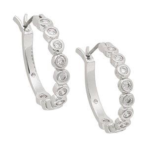 Kate Spade Full Circle Crystal Hoop Earrings